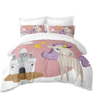 set of bed unicorn castle unicorn 220x240cm