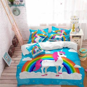 set of bed unicorn colorful 220x240cm not dear