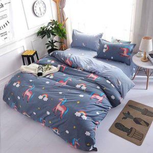set of bed unicorn cotton 220x240cm at sell