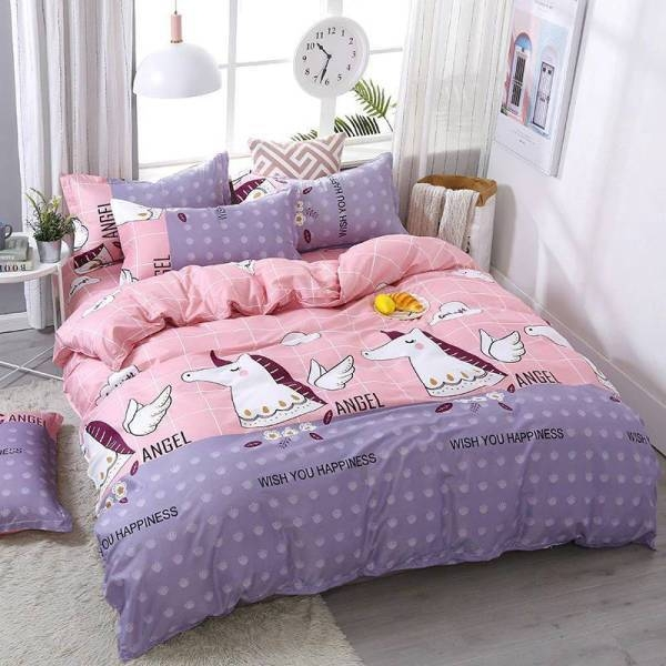 set of bed unicorn cotton silky 220x240cm room