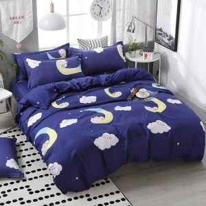 set of bed unicorn croissant moon 220x240cm buy
