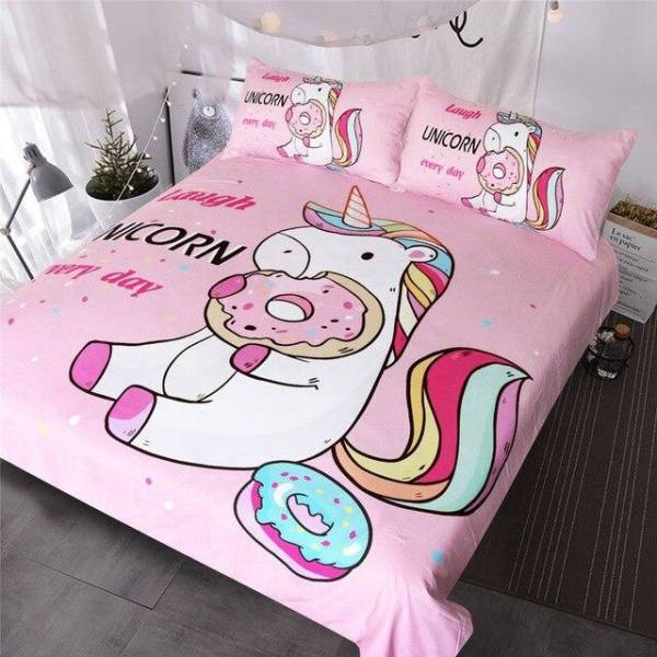 set of bed unicorn donuts 220x240cm price