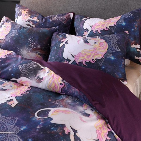 set of bed unicorn dream 230x260cm bedroom