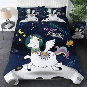 set of bed unicorn dream magic 220x240cm bedroom