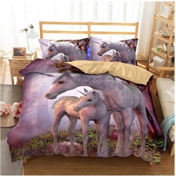 set of bed unicorn fairyland 260x220cm