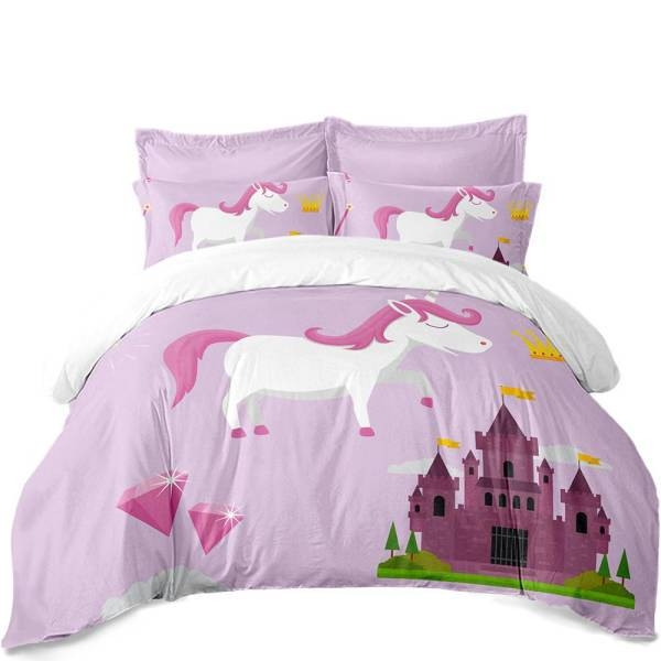 set of bed unicorn fantastic 220x240cm bedroom