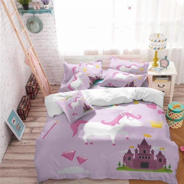 set of bed unicorn fantastic 220x240cm buy