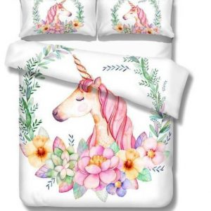 set of bed unicorn flower bedroom 220x260cm