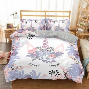 set of bed unicorn flowery 220x240cm not dear