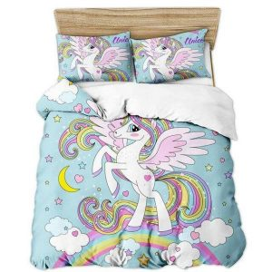 set of bed unicorn flying 220x240cm not dear