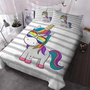 set of bed unicorn fun 220x240cm set of bed unicorn