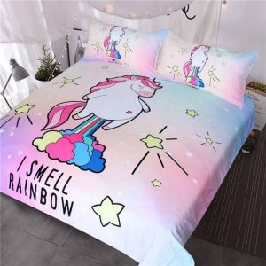set of bed unicorn funny 220x240cm at sell