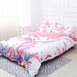 set of bed unicorn girl 220x240cm sheet buy