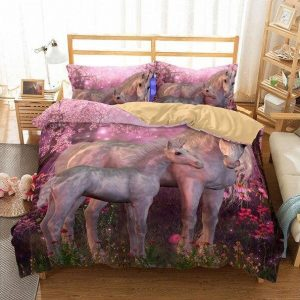 set of bed unicorn girl 3d 260x220cm not dear