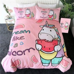 set of bed unicorn girly 240x220cm not dear