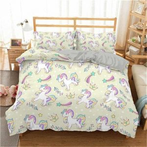 set of bed unicorn green 220x240cm unicorn stuffed animals