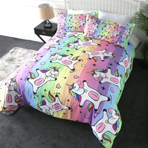 set of bed unicorn happy 220x240cm at sell
