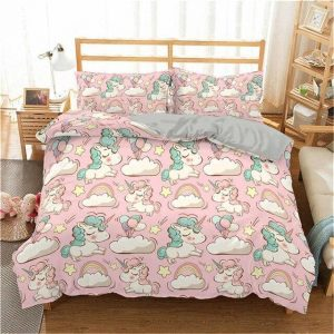 set of bed unicorn kawaii 220x240cm set of bed unicorn