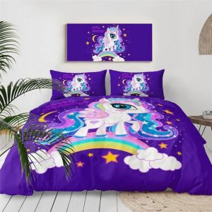 set of bed unicorn little girl 240x220cm