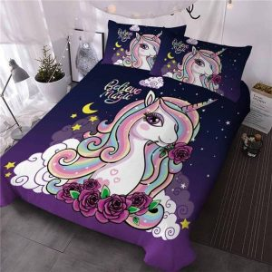 set of bed unicorn magic 220x240cm buy