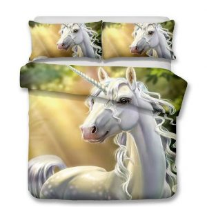 set of bed unicorn magical 260x220cm unicorn stuffed animals