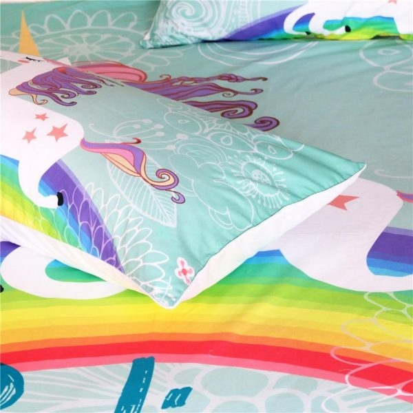 set of bed unicorn miracles 220x240cm at sell