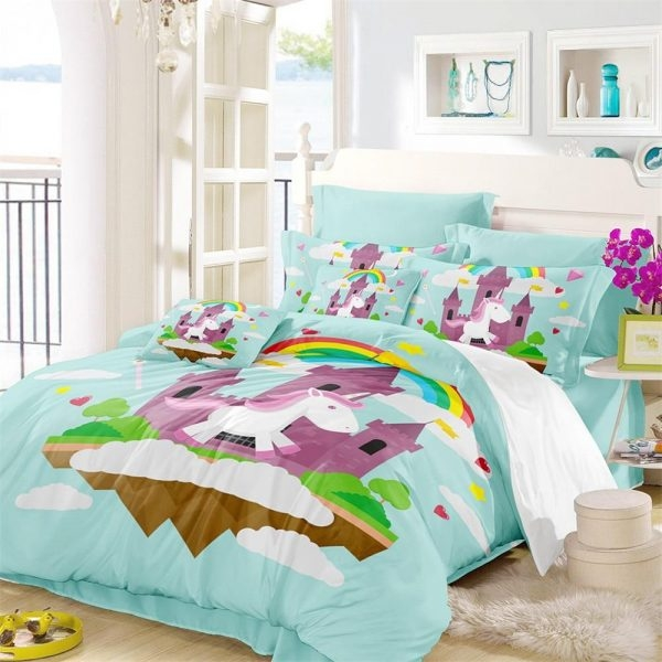 set of bed unicorn night nice to meet you 220x240cm price