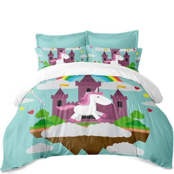 set of bed unicorn night nice to meet you 220x240cm