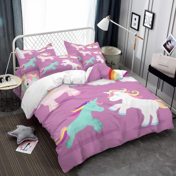 set of bed unicorn pink 220x240cm buy