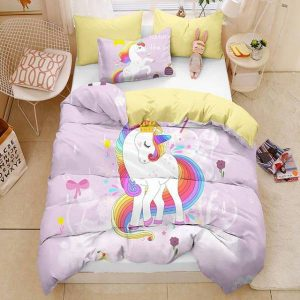 set of bed unicorn silky 220x240cm room