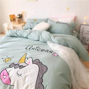 set of bed unicorn sleep divine 220x240cm at sell