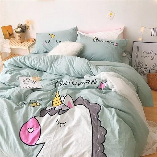 set of bed unicorn sleep divine 220x240cm price