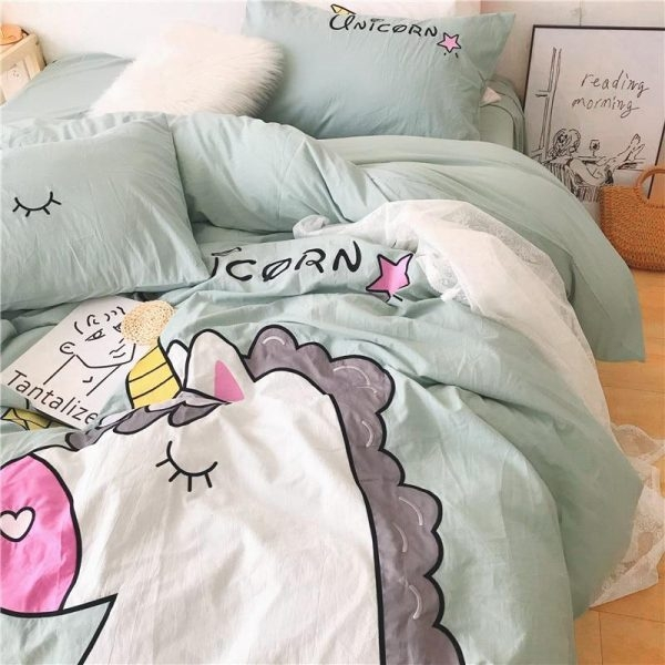 set of bed unicorn sleep divine 220x240cm room