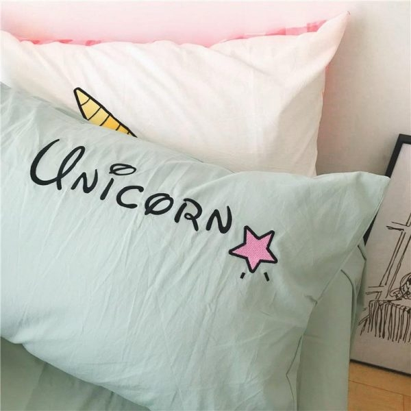 set of bed unicorn sleep divine 220x240cm unicorn stuffed animals