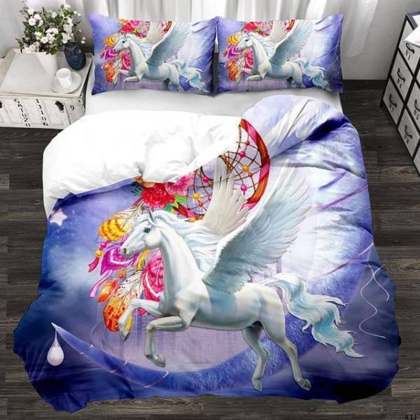 set of bed unicorn small girl 220x240cm