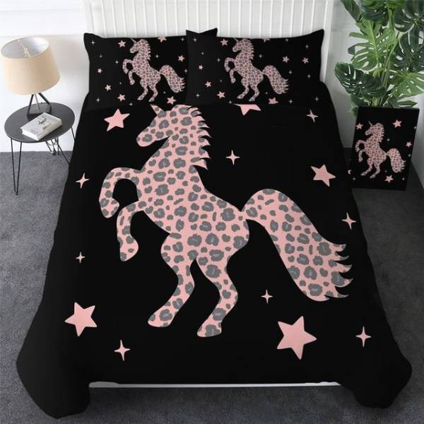 set of bed unicorn stars 220x240cm at sell