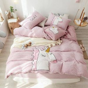 set of bed unicorn tissue polar 200x230cm