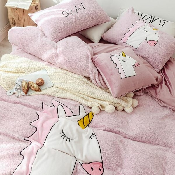 set of bed unicorn tissue polar 200x230cm at sell