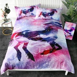 set of bed unicorn violet 220x240cm buy