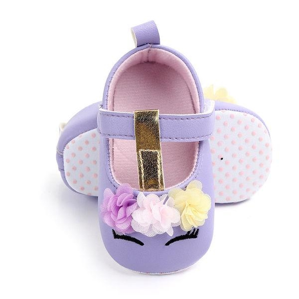 shoes unicorn baby pink white purple pink 13 18 months not dear