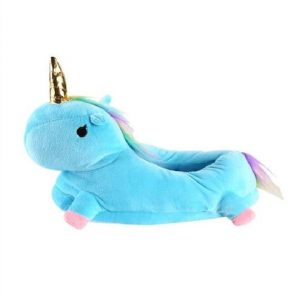 slipper in form of unicorn kawaii blue 42 unicorn stuffed animals