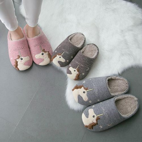 slipper unicorn flexible adult grey 43 shoes and covers chefs