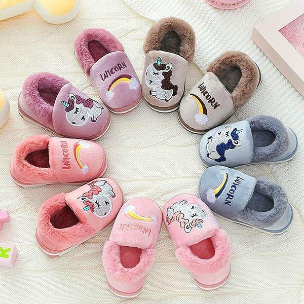 slippers unicorn cotton brown 33 buy
