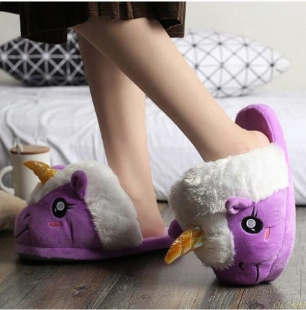 slippers unicorn purple magical 42 price