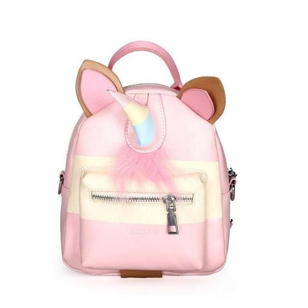 small bag at back unicorn pink bag at back and backpack unicorn