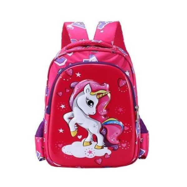 small bag at back unicorn red