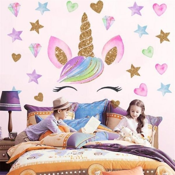 stickers murals pattern unicorn not dear