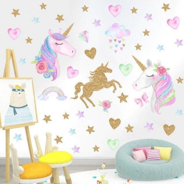 stickers murals unicorn bedroom child not dear