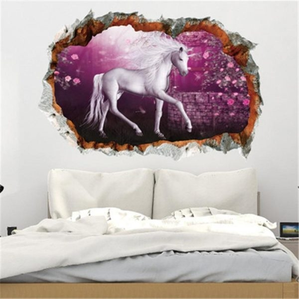 stickers murals unicorn bedroom girl