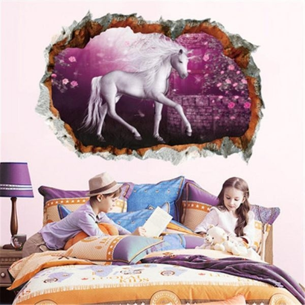 stickers murals unicorn bedroom girl at sell